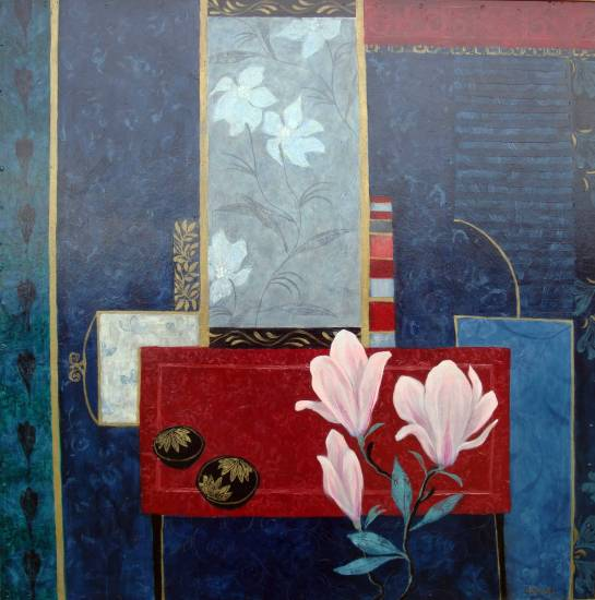 Magnolias and Red Table