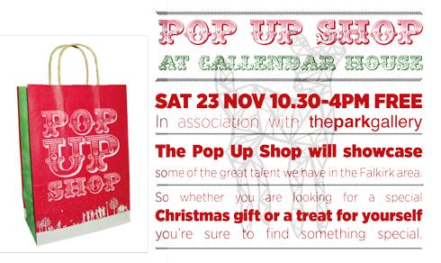 Callendar House Pop-up Shop !!